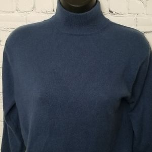 Lord and Taylor 2 ply cashmere turtleneck sweater